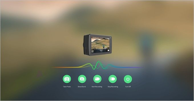 YI 4K+は音声入力にも対応する