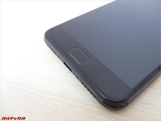 UMIDIGI Z PROは画面側の下部に指紋ユニットが搭載されており、タッチ式となっています。