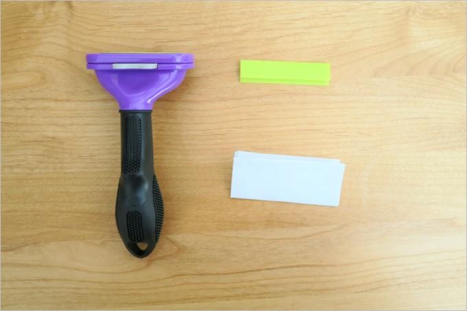 同梱物は本体と刃のカバー、取扱説明書のみ