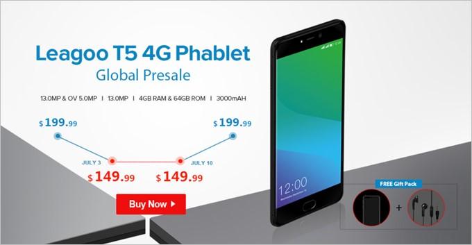 Leagoo T5 4G Phablet