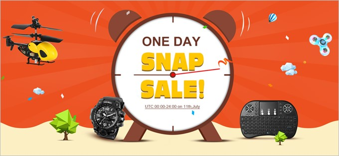 ONE DAY SNAP SALE!