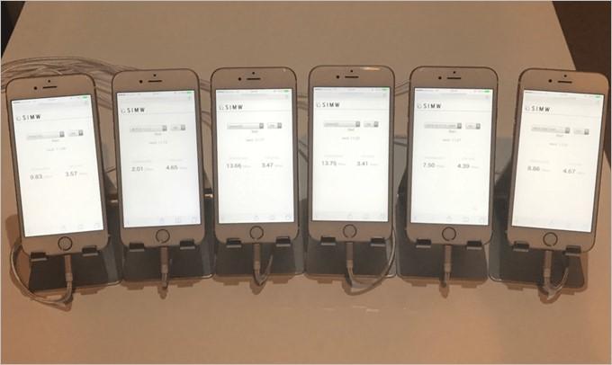 SIMWは通信速度測定にiPhone 6sを利用してSafariブラウザー上での測定を行っている
