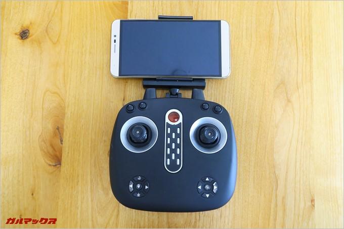 6型のスマートフォンも搭載可能なスタンド