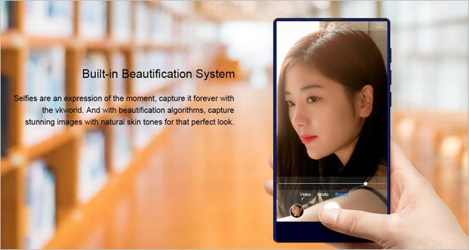 美しい肌色で撮影できるアルゴリズムシステムを採用