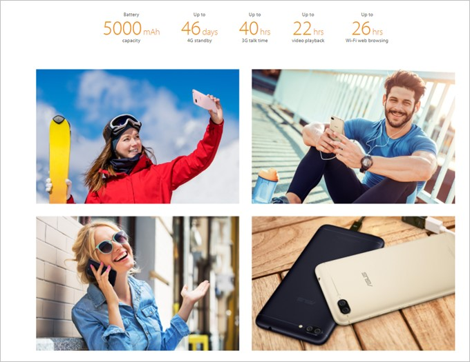Zenfone 4 Max Proは超大容量な5000mAhバッテリーを搭載