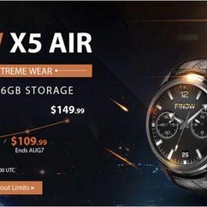 3G対応スマートウォッチ「FINOW X5 AIR」が7日まで数量限定で89.99ドル!
